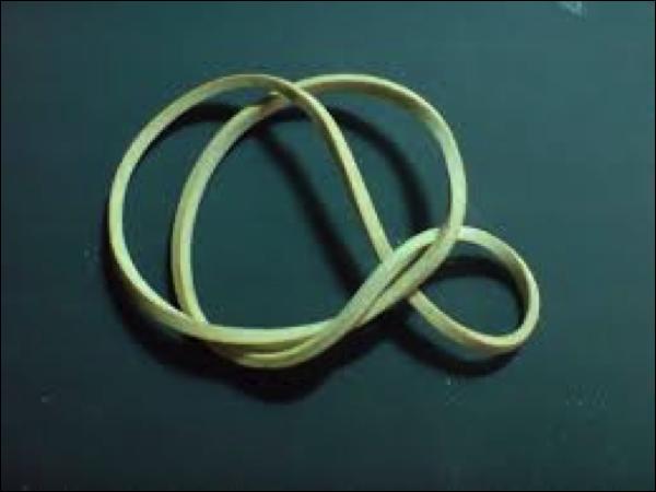 Goma elástica comparada a la fascia